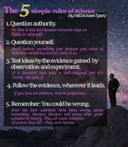 5 rules of science