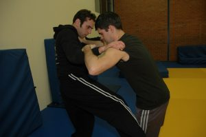 Low striking whilist grappling