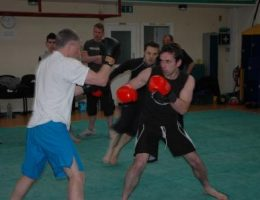Jamie Clubb of Clubb Chimera Martial Arts in the Bodyguard drill! (small)