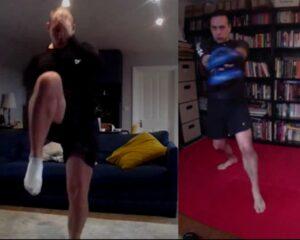 Knee strike to virtual pads